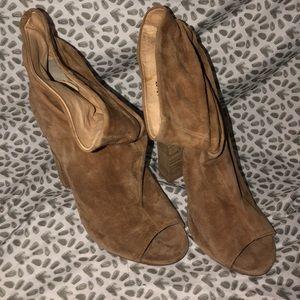 Kristin Cavallari Laurel suede boot peep toe
